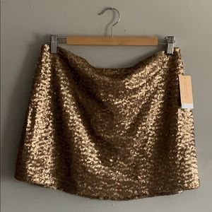 Splendid Chelsea Sky champagne sequined mini NWT